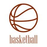 Illustrazione di un profilo di pallacanestro isolato nel fondo bianco. Fotografie Stock