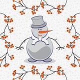 Illustrazione di un pupazzo di neve Illustrazione Vettoriale
