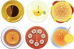 Illustrazione di un reticolo di cibo immagine stock