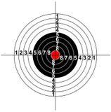 Illustrazione di un simbolo dell'obiettivo Immagini Stock Libere da Diritti