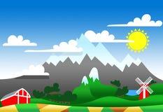 Illustrazione di un terreno alto Immagini Stock