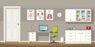 Illustrazione di un ufficio di medico Immagini Stock