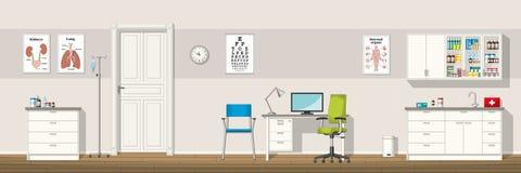 Illustrazione di un ufficio di medico Fotografia Stock Libera da Diritti