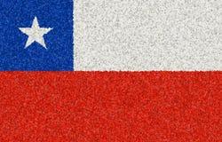 Illustrazione di una bandiera cilena con un modello del fiore fotografia stock libera da diritti