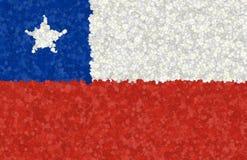 Illustrazione di una bandiera cilena con un modello di fiore immagini stock libere da diritti