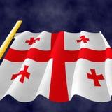 Illustrazione di una bandiera georgiana fotografia stock