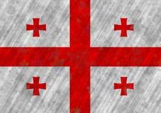 Illustrazione di una bandiera georgiana fotografie stock