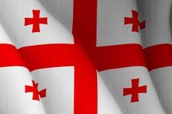 Illustrazione di una bandiera georgiana volante fotografia stock