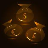 Illustrazione di una borsa di soldi. Vettore Illustrazione Vettoriale