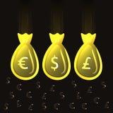 Illustrazione di una borsa di soldi. Vettore. Illustrazione di Stock