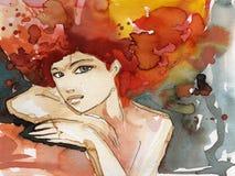 Illustrazione di una donna royalty illustrazione gratis