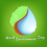 Illustrazione di una Giornata mondiale dell'ambiente Illustrazione Vettoriale