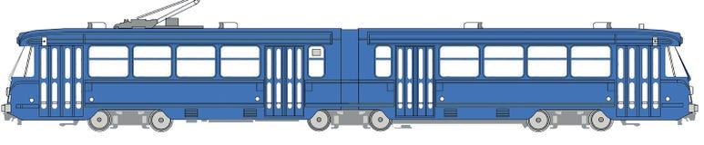 Illustrazione di una linea tranviaria Fotografie Stock