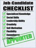 Illustrazione di una lista di controllo del Job-Candidato Fotografia Stock