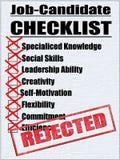 Illustrazione di una lista di controllo del Job-Candidato Immagini Stock Libere da Diritti