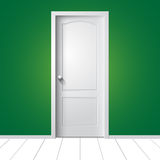 Illustrazione di una porta bianca Immagine Stock