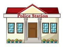 Una stazione di polizia Fotografie Stock Libere da Diritti
