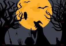 Illustrazione di una strega illustrazione di stock