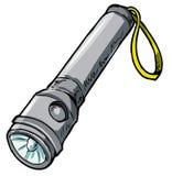 Illustrazione di una torcia elettrica. Immagine Stock