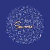 Illustrazione di una vacanza estiva nei colori luminosi Fotografia Stock Libera da Diritti