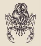 Illustrazione di uno scorpione del mostro Fotografie Stock Libere da Diritti