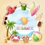 Illustrazione di vacanza estiva Immagini Stock