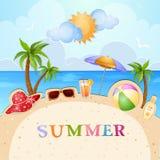 Illustrazione di vacanza estiva Immagini Stock Libere da Diritti