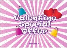 Illustrazione di Valentine Special Offer Fotografie Stock Libere da Diritti