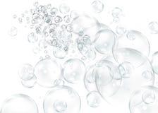 Illustrazione di varie bolle di taglia come ottengono più vicino Immagine Stock
