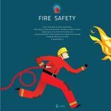 Illustrazione di Vector del pompiere royalty illustrazione gratis