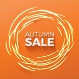 Illustrazione di vendita di autunno Fotografia Stock Libera da Diritti