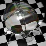 Illustrazione di vetro dello Scarab Fotografie Stock