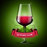 Illustrazione di vetro di vino immagini stock