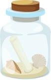 Illustrazione di vetro e della lettera Illustrazione di Stock