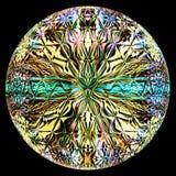 Illustrazione di vetro rotonda di stile Immagine Stock