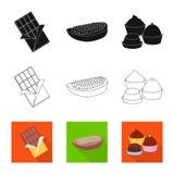 Illustrazione di vettore di alimento e del simbolo squisito Metta di alimento e dell'icona marrone di vettore per le azione illustrazione di stock