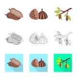 Illustrazione di vettore di alimento e del simbolo squisito Metta di alimento e dell'icona marrone di vettore per le azione illustrazione vettoriale