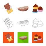 Illustrazione di vettore di alimento e del simbolo squisito Raccolta di alimento e del simbolo di riserva marrone per il web royalty illustrazione gratis