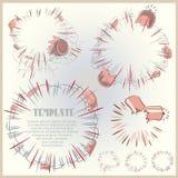 Illustrazione di vettore asta Esplosione del libro di fumetti Fotografie Stock