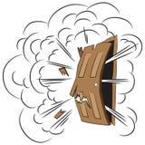 Illustrazione di vettore asta Esplosione del libro di fumetti Immagini Stock