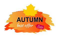 Illustrazione di vettore di Autumn Best Offer Sale Placard Fotografia Stock Libera da Diritti