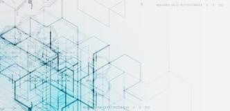 Illustrazione di vettore Backgrou di ingegneria e di tecnologia digitale illustrazione di stock