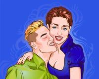 Illustrazione di vettore che descrive una coppia di amanti illustrazione vettoriale
