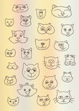 Illustrazione di vettore con i gatti Fotografie Stock