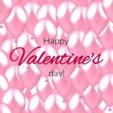 Illustrazione di vettore con i palloni San Valentino felice Seamle fotografie stock libere da diritti