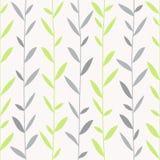 Illustrazione di vettore con i rami paralleli Colori pastelli verdi e grigi royalty illustrazione gratis