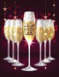 Illustrazione di vettore con i vetri di champagne Fotografia Stock Libera da Diritti