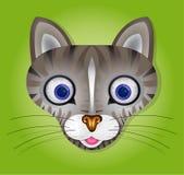 Illustrazione di vettore con il gatto Fotografie Stock Libere da Diritti