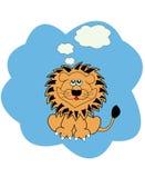 Illustrazione di vettore con il leone Fotografie Stock Libere da Diritti