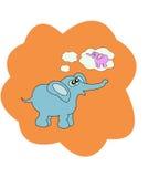 Illustrazione di vettore con l'elefante Fotografia Stock